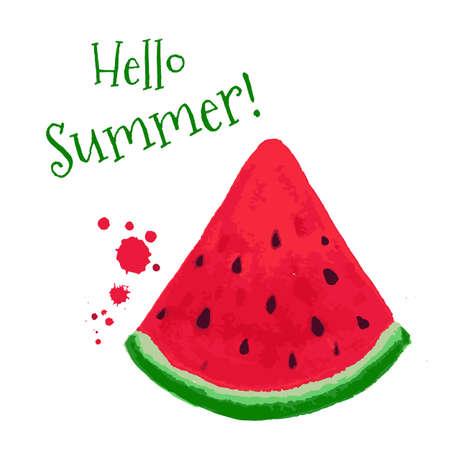 huge: Watermelon Card, Vector Illustration