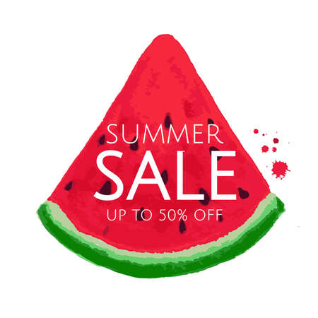 big: Watermelon Sale Banner, Vector Illustration Illustration