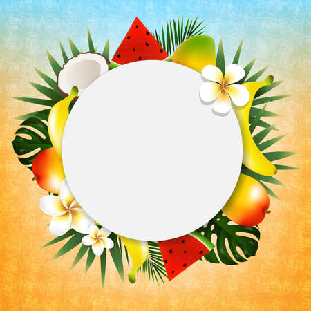 Tropical ball banner vector illustration with gradient mesh Stock Vector - 83105140