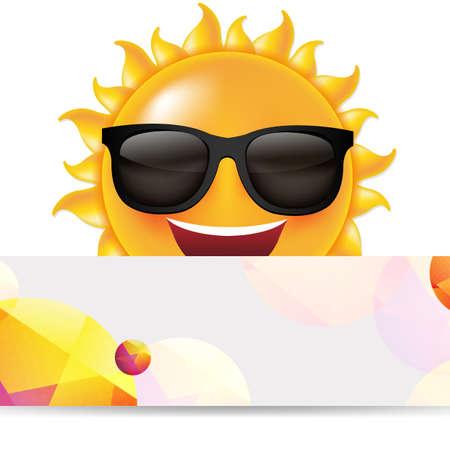 Sun with banner illustration.