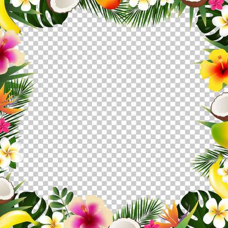 Tropical frame illustration