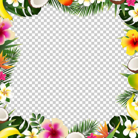 Tropical frame illustration