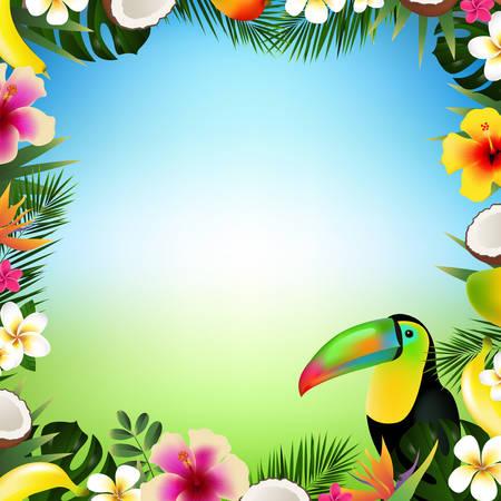 Tropical frame. Illustration