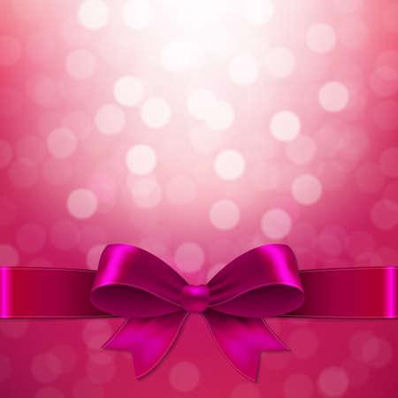 ピンクのグラデーション メッシュでの弓での図