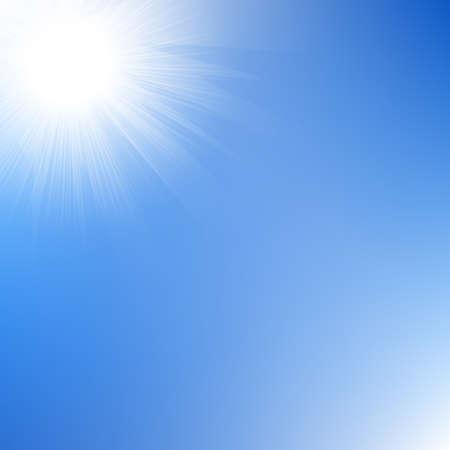 太陽光空、ベクトル図では、グラデーション メッシュで。  イラスト・ベクター素材