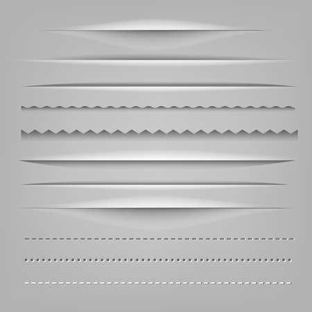Dividers Gradient Mesh, Vector Illustration