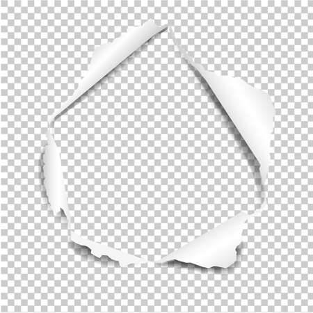 Torn Paper Isolated In Transparent Background Gradient Mesh, Vector Illustration