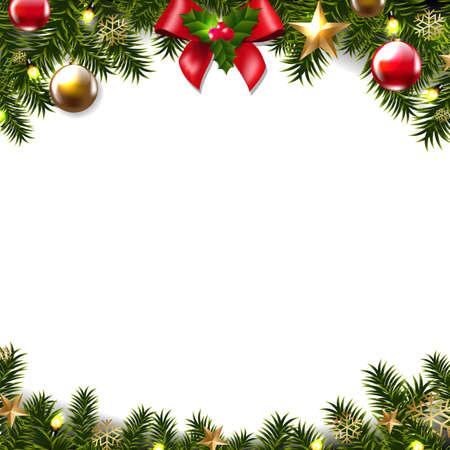 Projekt świątecznej granicy. Ilustracje wektorowe