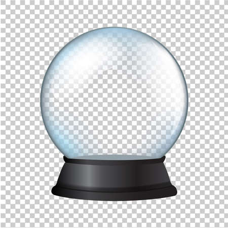 Snow Globe Isolated In Transparent Background Illustration