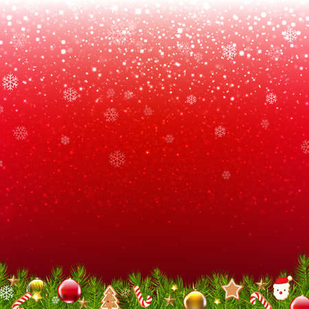 Christmas Poster Card With Gradient Mesh, Vector Illustration