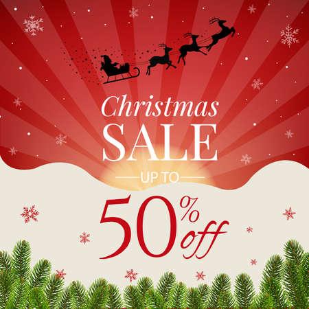 Christmas sale banner. Illustration