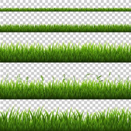Fronteira de grama isolada, ilustração vetorial Foto de archivo - 94943170