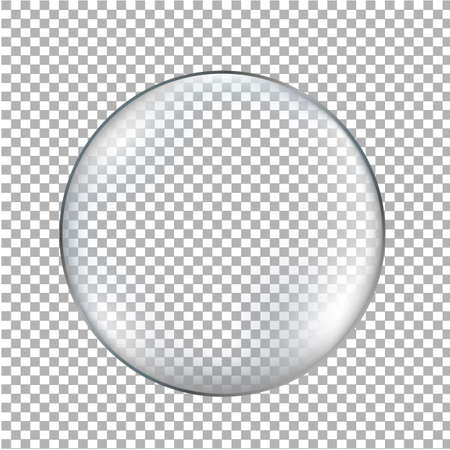 Glass Ball Transparent Background With Gradient Mesh, Vector Illustration Illustration