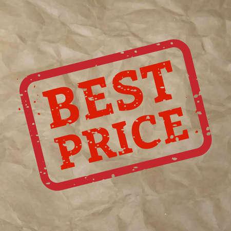 Best Price Stamp Sign Cardboard, Vector Illustration Illustration