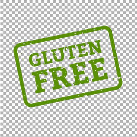 Gluten Free Stamp Sign Transparent Background, Vector Illustration Illusztráció