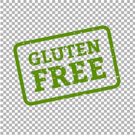 Gluten Free Stamp Sign Transparent Background, Vector Illustration Stock Illustratie