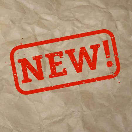 New Stamp Sign Cardboard Background, Vector Illustration