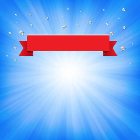 Congratulations Banner With Ribbon Vector illustration.