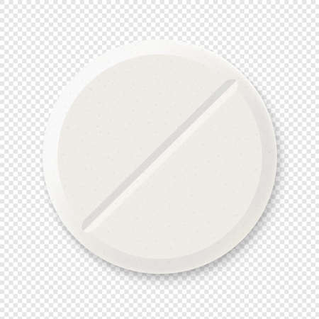 Pill Isolated Transparent Background With Gradient Mesh, Vector Illustration