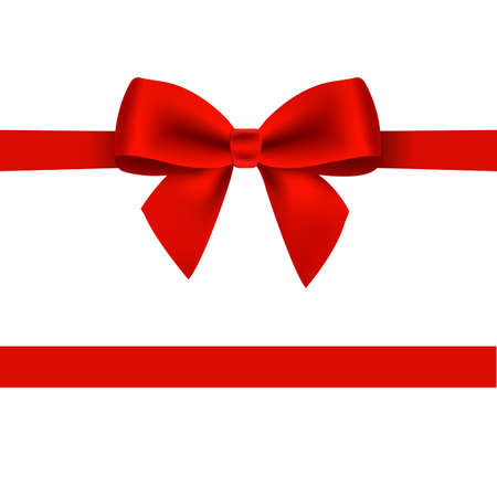 Red Bow Isolated With Gradient Mesh, Vector Illustration Illustration