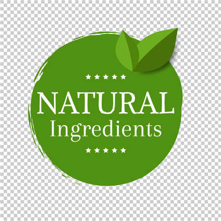 Natural Label Isolated Transparent Background, Vector Illustration Illustration
