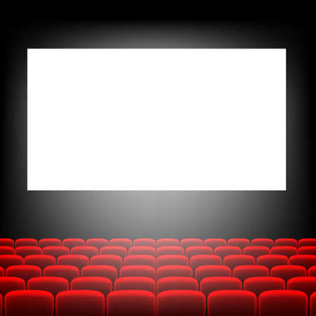 Cinema Screen With Screen With Gradient Mesh, Vector Illustration