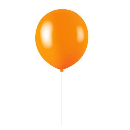 Orange Balloon Isolated With Gradient Mesh, Vector Illustration