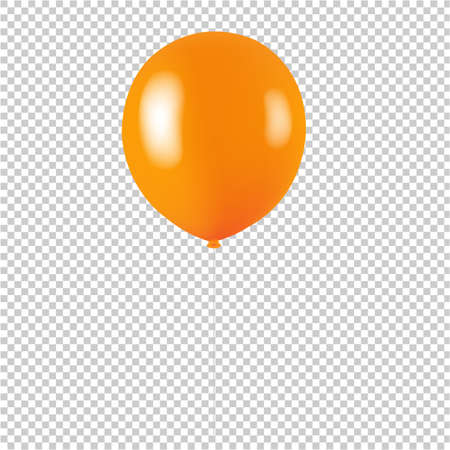 Orange Balloon Isolated Transparent background With Gradient Mesh, Vector Illustration