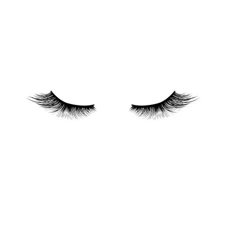 Eyelashes Icon Isolated, Vector Illustration