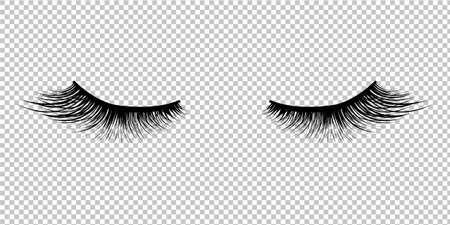 Icône de cils isolé sur fond Transparent, Illustration vectorielle