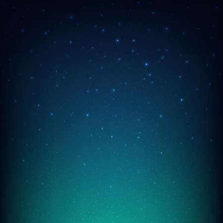 Night Starry Sky Blue Space Background, Vector Illustration Vecteurs