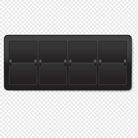 Black Counter Isolated transparent BackgroundWith Gradient Mesh, Vector Illustration Иллюстрация
