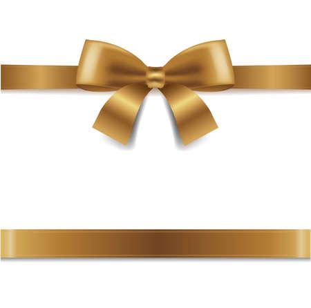 Arc d'or isolé sur fond blanc avec filet de dégradé, Illustration vectorielle Vecteurs