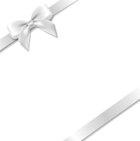White Bow With Mint Background With Gradient Mesh, Vector Illustration Illusztráció
