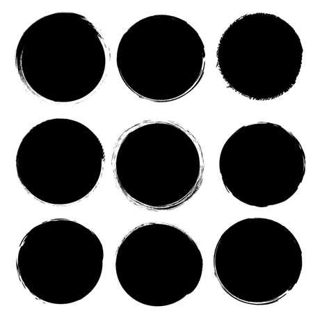 Black Blobs Big Set Isolated White background, Vector Illustration Ilustração