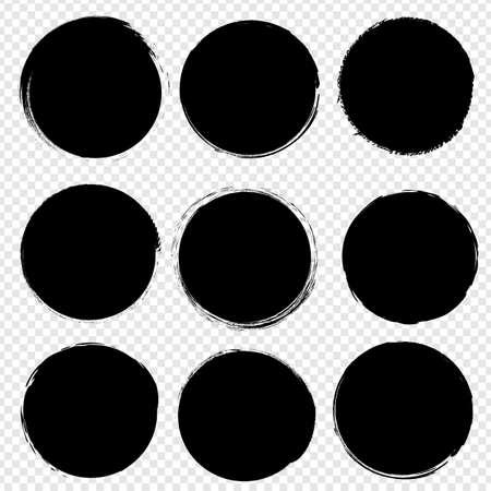 Black Blobs Big Set Isolated Transparent background, Vector Illustration