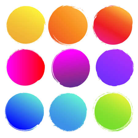 Colorful Blobs Big Set Isolated White background, Vector Illustration