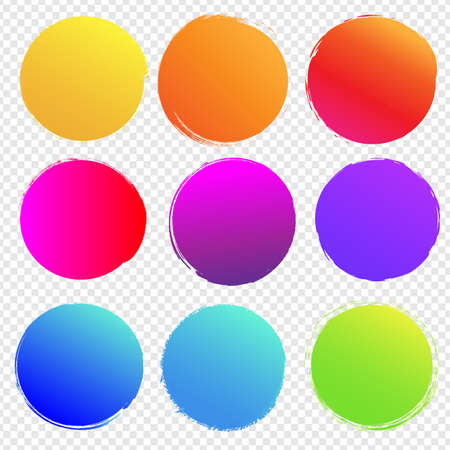 Colorful Blobs Big Set Isolated Transparent background, Vector Illustration