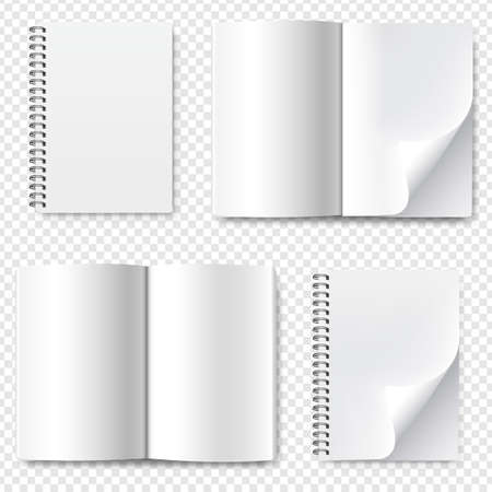 Book Collection Set With Isolated Transparent Background With Gradient Mesh, Vector Illustration Banco de Imagens
