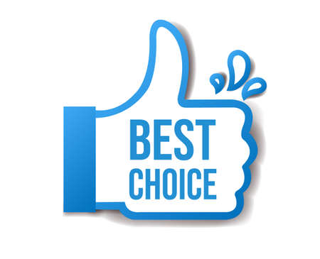 Best Choice Sticker Isolated White Background With Gradient Mesh, Vector Illustration