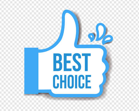 Best Choice Sticker Isolated Transparent Background With Gradient Mesh, Vector Illustration Banco de Imagens