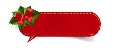 Merry Christmas Tag Isolated Transparent background With Gradient Mesh, Vector Illustration