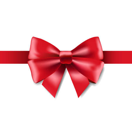 Red Ribbon Isolated, Vector Illustration