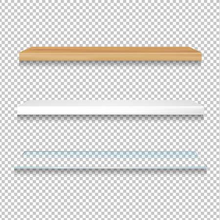 Different Shelves Gradient Mesh, Vector Illustration