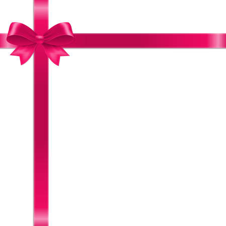 Pink Bow With Ribbon With Gradient Mesh, Vector Illustration Vektorgrafik