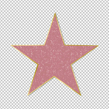 Fame Star On Transparent Background Gradient Mesh, Vector Illustration 写真素材 - 165056980