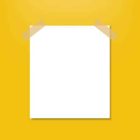 Blank Note With Gradient Mesh, Vector Illustration