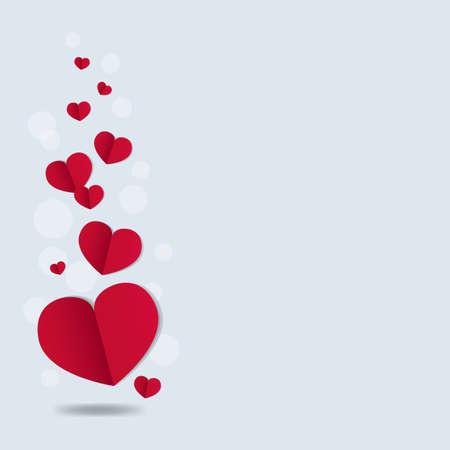 Valentines Day Card With Gradient Mesh, Vector Illustration Vector Illustratie