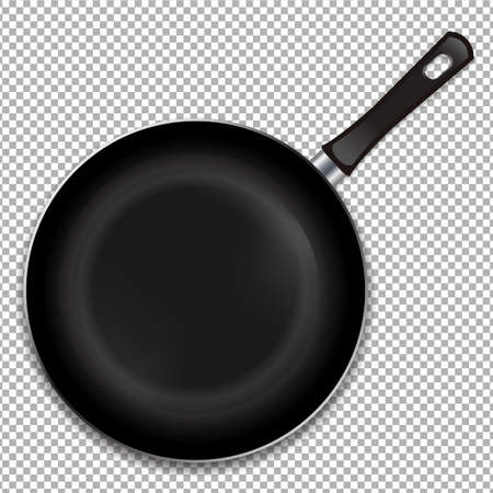 Frying Pan Isoladed Gradient Mesh, Vector Illustration Vektoros illusztráció