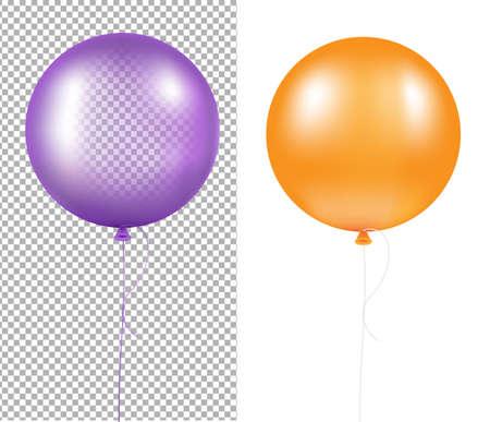 Colorful Balloons Set With Gradient Mesh, Vector Illustration Векторная Иллюстрация